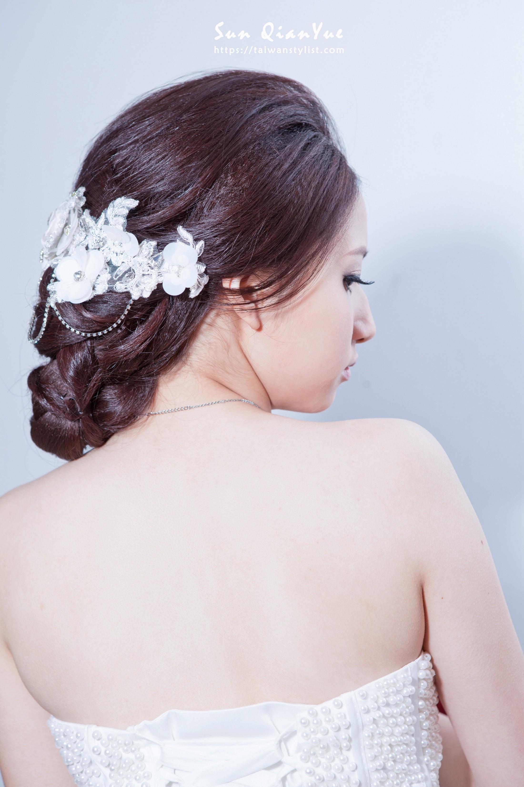 【包頭新娘】簡單的裝飾也能把包頭造型變得不平凡
