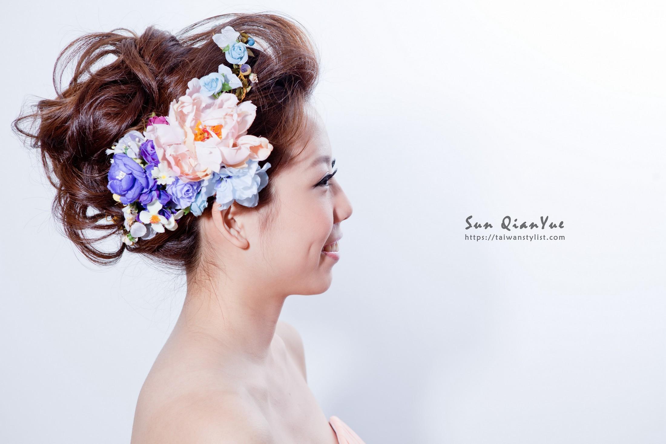 繽紛花卉包頭造型【新娘秘書】