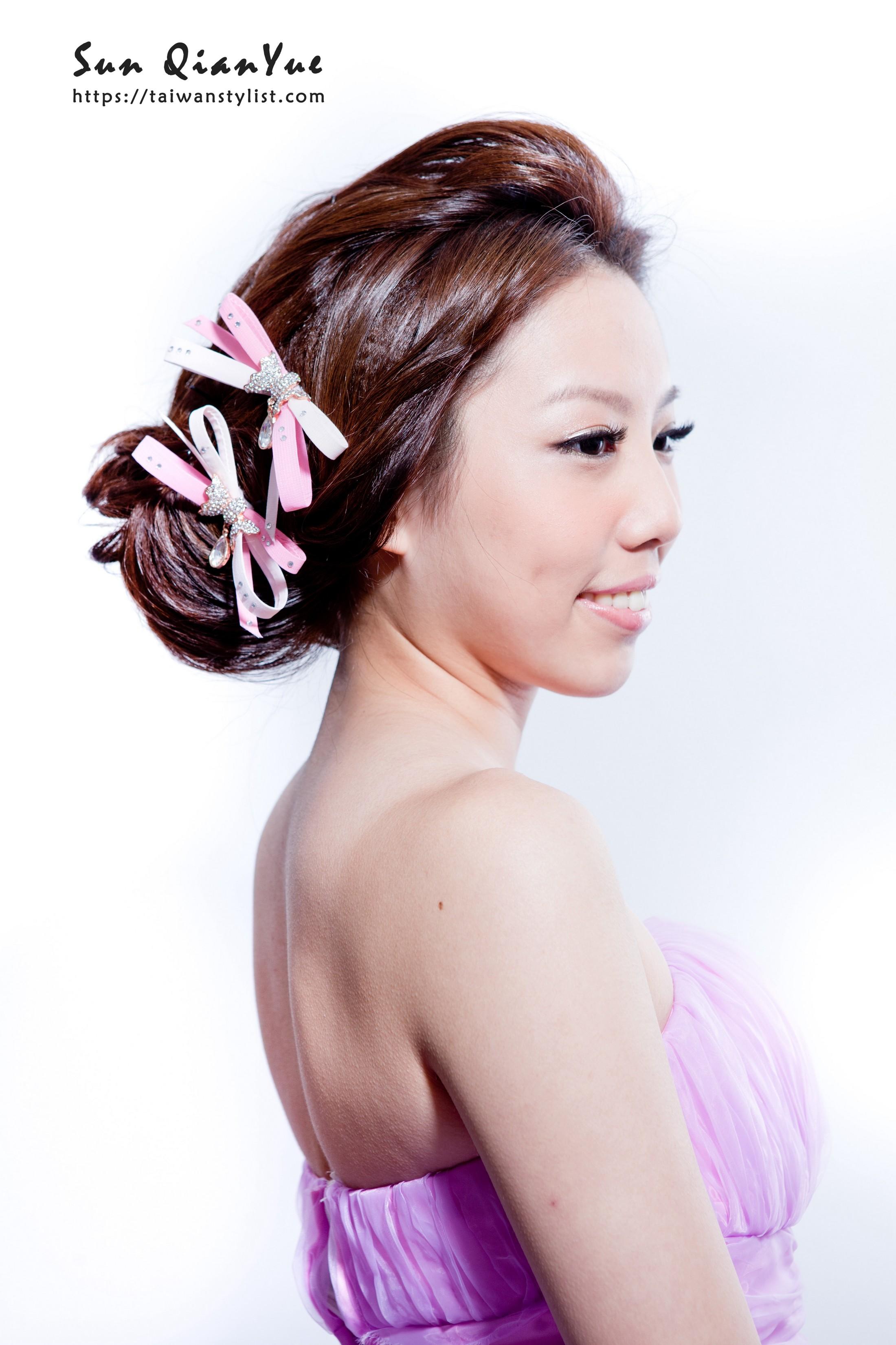優雅低盤髮造型【新娘秘書】